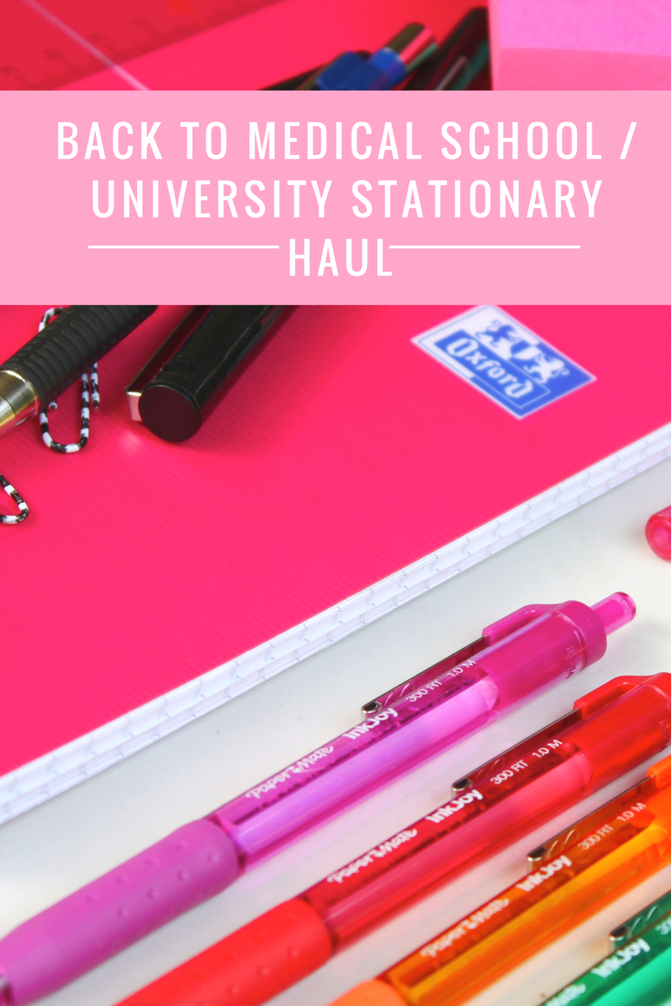 Back to Medical school /University stationary haul